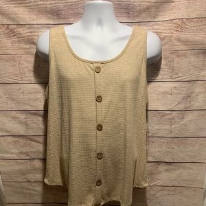 French Pastry Oatmeal Colored Tank Top 2X